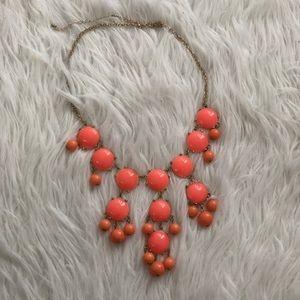 Statement coral-orange necklace